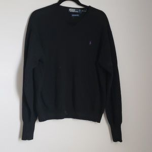 Polo black V-neck sweater
